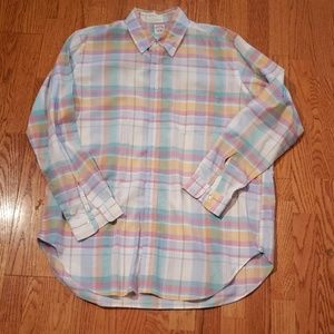 Brooks Brothers XL Plaid shirt Pink Pastel